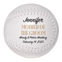 Mother of the Groom Custom Softball Wedding Gift - Personalized Wedding ... - $34.95