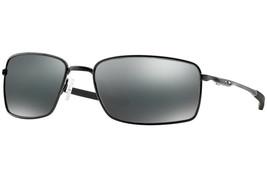 Oakley Carré Fil Hommes Lunettes de Soleil Oo4075-01 Noir Poli / Iridium... - $190.21