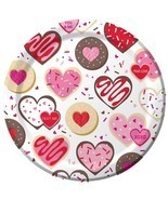 """Frosted Fun Cookies Candy Valentine's Day Holiday Party 9"""" Paper Dinner ... - $8.66"""