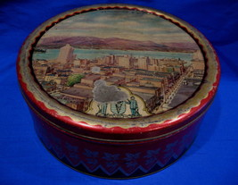 Vintage B.W. & M Barringer Wallis Manners Cookie Tin VANCOUVER BC. Souve... - $14.95