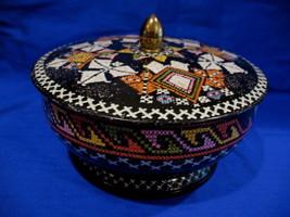 Vintage Candy Tin CROSS STITCH Design Basket Weave Style Collector Souvenir - $14.95