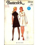 Uncut 1970s Size 12 Bust 34 A Line Dress Princess Seam Butterick 5942 Pa... - $9.99