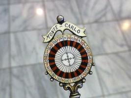 Vintage Enamel ROULETTE WHEEL Monte Carlo Monaco 900 Silver Gambling Spoon - $148.49