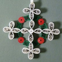 Quilled Christmas Cross keepsake ornament handc... - $25.00