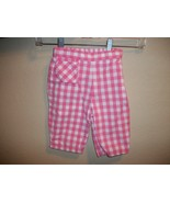 The Childrens Place Pink Gingham Capris Size 18 Months - $1.50