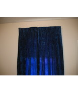 Vintage Blue Crushed Velvet Drapes Retro long M... - $120.00