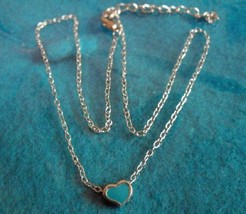 Lovely Silver Blue Heart Design Necklace & Pendant NEW! #505 - $8.99