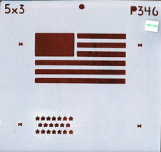 "DECORATIVE PAINTING WITH STENCILS 5""X3"" AMERICAN FLAG - $2.00"
