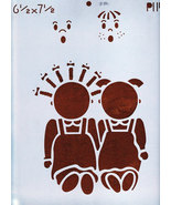 DECORATIVE PAINTING WITH STENCILS BOY & GIRL NEW MYLAR - $2.50
