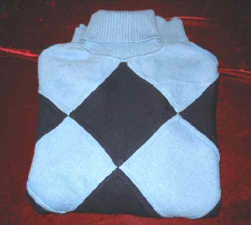 Mens Blue Regal Wear Turtleneck Sweater Shirt Knit Hat