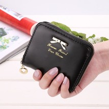 Women Leather Wallet Zipper Coin Purse Small Purse Casual ID Card Zip Ho... - $7.14