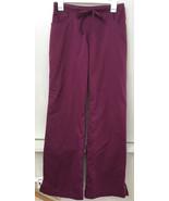 Grey's Anatomy By Barco Burgundy Drawstring Scrub Pants Size S - $18.95