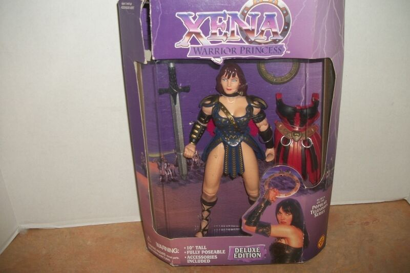 """XENA WARRIOR PRINCESS RARE 10/"""" DELUXE EDITION MINT IN BOX NEW TOY BIZ FROM 1996"""