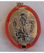 Orange mini rosary box C - $19.00