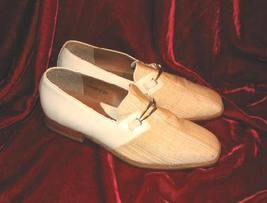 Mens Giorgio Brutini 2 Tone Leather Shoes White 9M - $15.00