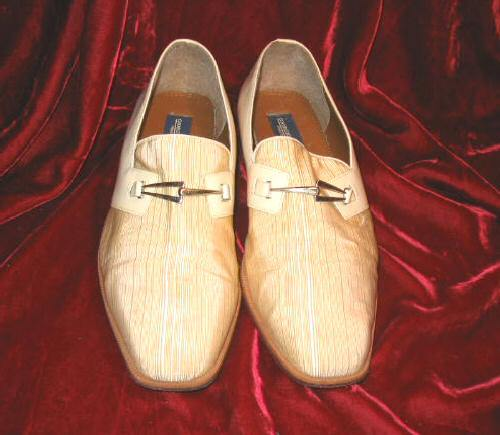 Mens Giorgio Brutini 2 Tone Leather Shoes White 9M