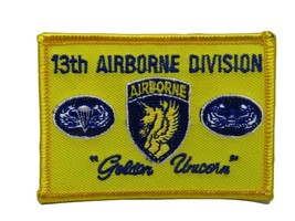 U.S. Military 13th Airborne Gold Unicorns Flag Wholesale lot of 3 Iron On Patch - $7.12