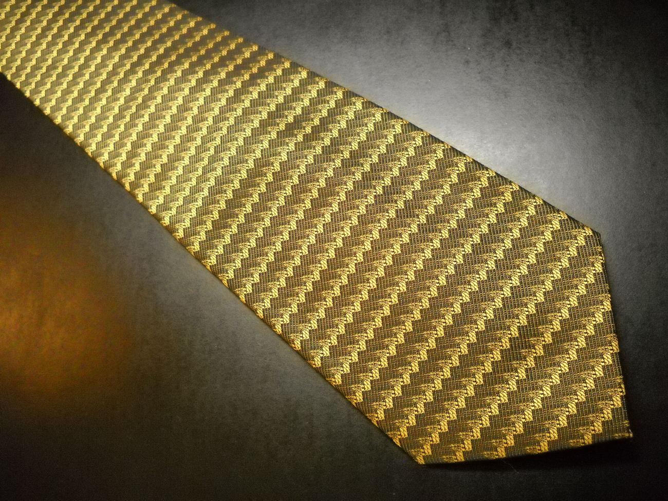Antica Seteria Italiana Neck Tie Greens Design Italy Lavorazione Artigianale