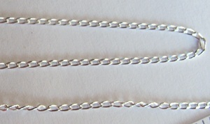 Primary image for 1.45mm STERLING SILVER CURB Chain ~ BULK LOT Sold by the Foot Sturdy Links