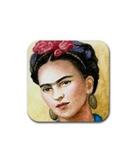Rubber Coasters set of 4,  from painting Frida Kahlo 8 - $13.99