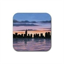 Rubber Coasters set of 4,  from painting Landscape 147 - $13.99