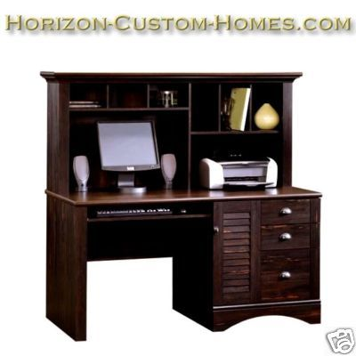 Mission Craftsman Shaker Computer Desk with Hutch - N/R