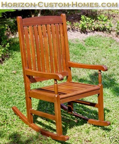 Teak Wood Patio Outdoor Garden Rocking Rocker Chair