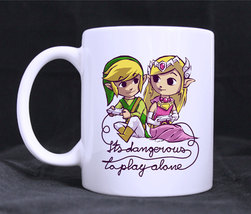 Its Dangerous To Play Alone Mug Zelda Coffee TEA Mug 11oz Ceramic  - $13.99