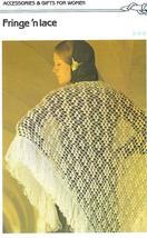 Fringe'n Lace Shawl Crochet Pattern - $1.99