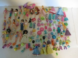 Large Lot Polly Pocket Dolls & Clothes - $39.60