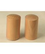 Round Wooden Salt and Pepper Shakers - $12.00