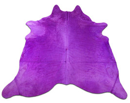 Dyed Purple Cowhide Rug Huge Size: 8' X 7' *HUGE* Dyed Cow Hide Skin C-017 - $345.51