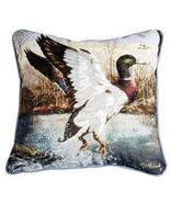 "17"" Mallard Duck Bird Wildlife Tapestry Cushion Pillow  - $25.00"
