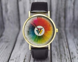 Vintage Color Wheel | Swatches | Classic Style Leather | Ladies Watch | ... - $20.00