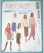McCalls M4520 Skirt 5 Lengths Misses Sz 6-8-10-12 - $11.95