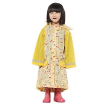 Toddler Rain Day Outerwear Baby Rain Jacket Infant Raincoat YELLOW Rabbit M