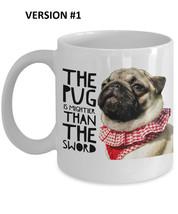 """Pug Mug """"Pug Quote Writers and Authors Coffee Mug"""" Pug Mightier Than The... - $14.95"""