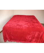 Red Crushed Velvet Bedspread Romantic Valentine... - $120.00