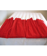 Red Velvet Curtains Heavy Vintage Drapes Romant... - $89.00