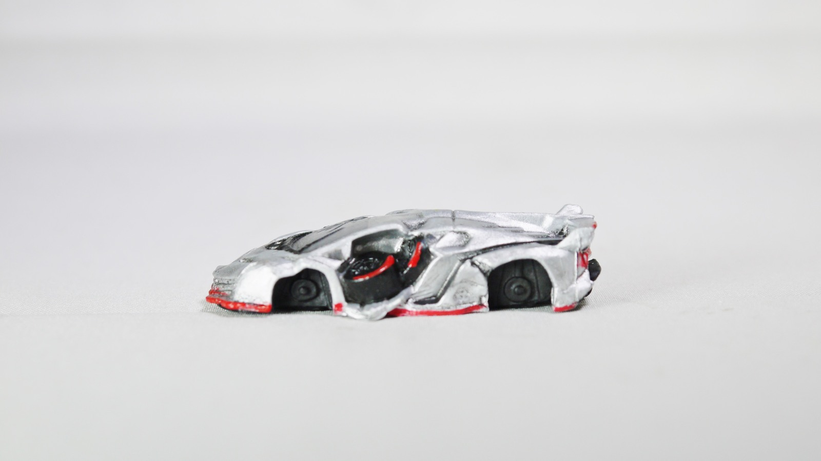 embrace Magaidou Waste Expensive Race Car Collection Lamborghini Silver Figure for sale  USA