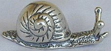 Primary image for Cute snail silver miniature