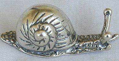 Cute snail silver miniature