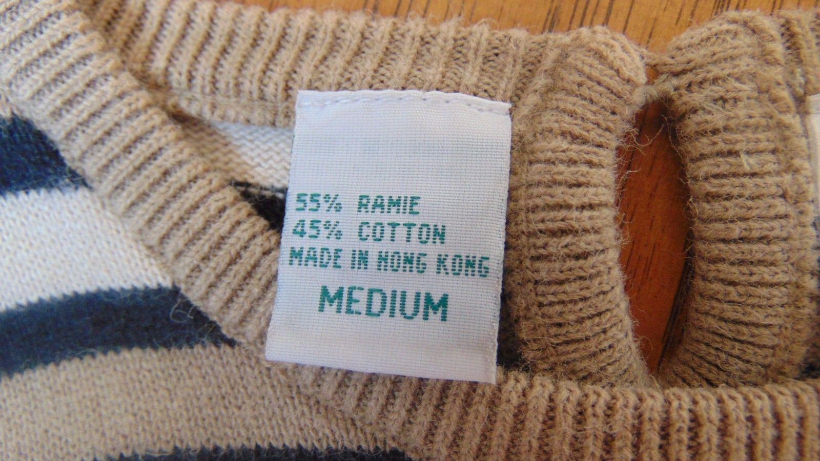 Ladies Patchington Medium Horizontal Striped Sweater Beige & Black-Short Sleeves