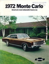 1972 Chevrolet MONTE CARLO sales brochure catal... - $9.00