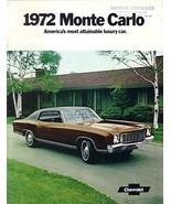 1972 Chevrolet MONTE CARLO sales brochure catalog 72 Chevy - $10.00
