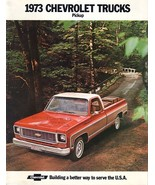 1973 Chevrolet PICKUP brochure catalog Chevy Truck CHEYENNE - $8.00
