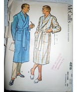 Vintage 1958 McCall's Men's Robe Size Large #4816 - $6.99