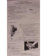 Spartan 192 Sewing Machine Manual Singer - $5.99