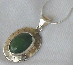 Green agate pendant B - $33.00