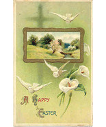 Easter Lillies From Salamanca 1912 Vintage Post Card - $4.00